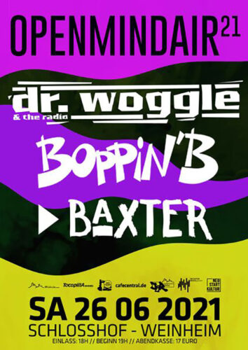 dr woggle and the radio, boppin b, baxter Bandfoto